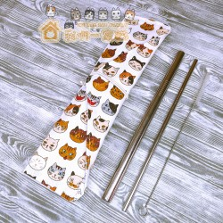 貓咪餐具袋 - 調皮貓