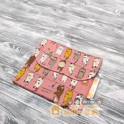 貓咪雙層口袋包 - 晾衫貓 (粉紅)