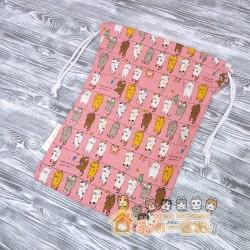 貓咪索袋 - 晾衫貓 (粉紅)