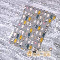 貓咪索袋 - 晾衫貓 (灰)