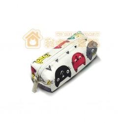 貓咪立體零錢包 - 白色底多色貓頭