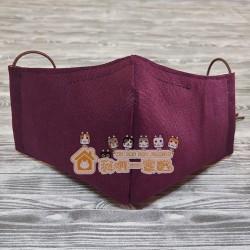 貓咪布藝立體口罩 - 紫紅色