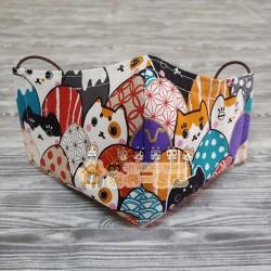 貓咪布藝立體口罩 - 蛋蛋貓
