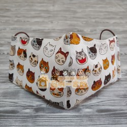 貓咪布藝立體口罩 - 調皮貓