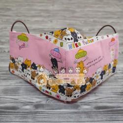 貓咪布藝立體口罩 - 貓咪娃娃機 (粉紅)