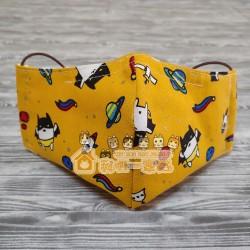 貓咪布藝立體口罩 - 蝙蝠貓