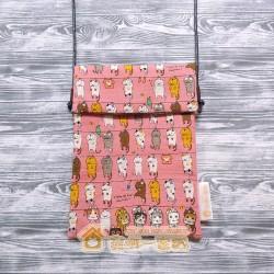 貓咪斜背包 - 晾衫貓 (粉紅)